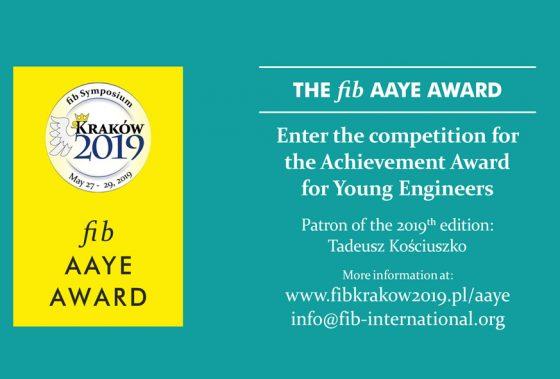 Genç Mühendisler için fib Aaye Ödülleri 2019